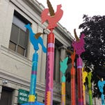 """Rochelle Shicoff created """"Seeing The Wind"""" for the Mount Vernon Public Library"""