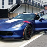 Renowned sports ca racer Andy Pilgroim juggles racing a Porsche in the IMSA Weathertech Series with test drives for Automobile magazine in cars like the new Corvette Grand Sport - where he set an unoffical production car lap record his first day out. (Photo by Henry Payne/The Detroit News)