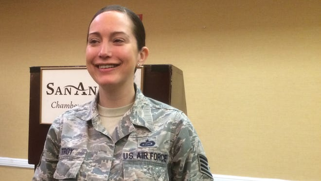 Goodfellow Staff Sergeant Kristine Troy wins the Phil Neighbors Community Impact Award.