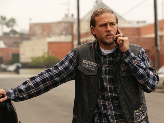 "Charlie Hunnam as Jax Teller in ""Sons of Anarchy"" on"