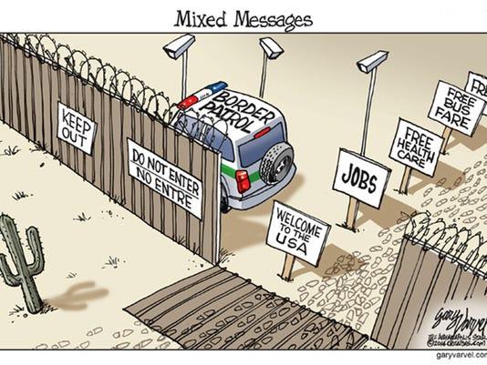 US-Mexican border Cartoon