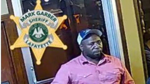 The Lafayette Parish Sheriff's Office is seeking information on the identity or location of this man in connection to a March 7 theft.