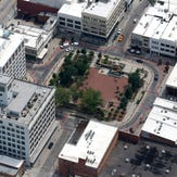 Park Central Square and Heers from the air on Friday, June 9, 2018.