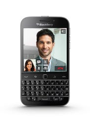 The front of the new BlackBerry Classic.
