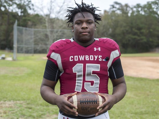 Madison County senior defensive end Kelvin Kegler is the 2016 All-Big Bend Defensive Player of the Year after creating 29 tackles for loss amid his 88-tackle season as the Cowboys went undefeated in the regular season and reached the Class 1A state semifinals.