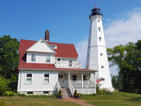 The North Point Lighthouse in Milwaukee's Lake Park