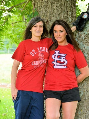 Lauren Scott, right, a Carroll County resident, and her fiancee, Brittney Barber, were engaged in May.