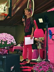 ABC's Melanie Cavender speaks at the annual Heroes in High Heels fashion show last year.