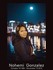 Nohemi Gonzalez, 20, of El Monte, California, is the