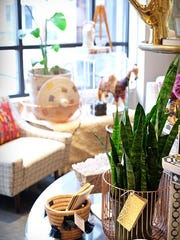 Local home décor shop Cadeau carries the coveted Eliza Gran pom-pom baskets and gorgeous wire baskets in copper, white and gold.