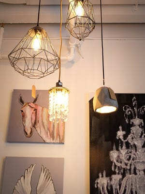 Playful artwork and unique pendant lighting are found in every nook and cranny. Can't find what you are looking for? Need multiples? Apple & Oak offers custom orders to meet your needs.