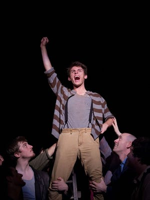"Trevor Purkiser plays Peter Pan in the Civic production of ""Peter and the Starcatcher."""