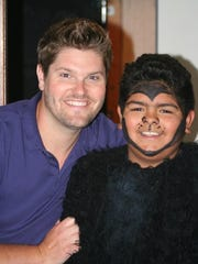 "Aaron Smith and Vincent Oldford as King Louie from a production of Disney's ""The Jungle Book"""