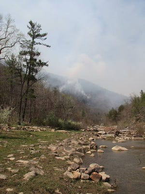 Wildfire at Goshen Pass.