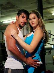 "Ryan Czerwonko and Jessica Harthcock star in ""Fighting Belle."""