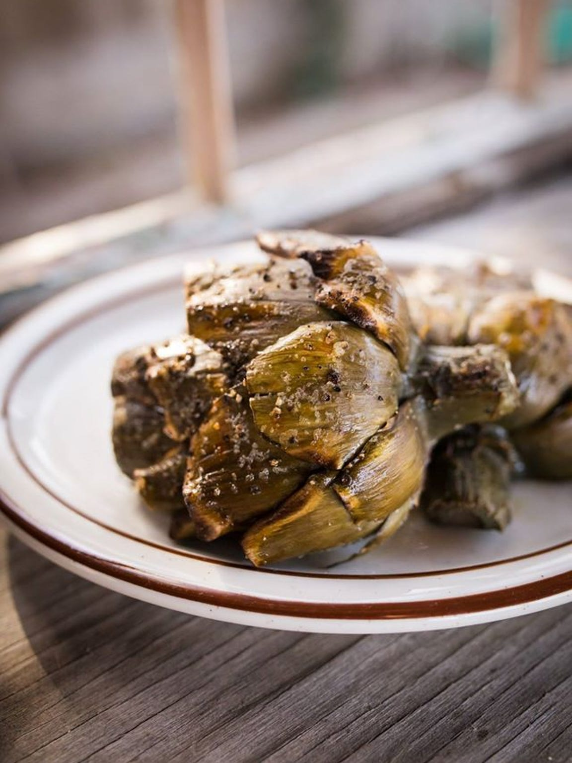 The Hitching Post grilled artichokes