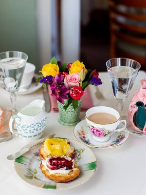 Teaberry's offers lunch and tea service.
