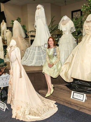 Vintage wedding dress collector Leigh Ann Brown will bring some of her treasures to Alva for a unique history event benefiting the town's nonprofit museum