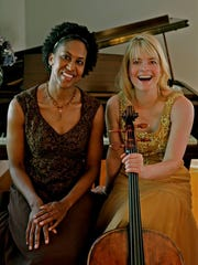 Maria Corley and Sara Male perform as Duo Chiaroscuro.