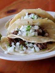 "The carnitas tacos at Tortilleria Perches. ""We make"