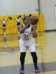 Clarksville Academy's Keisha Phillips sets to shoot