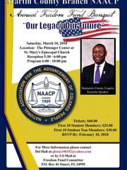 Civil Rights attorney Benjamin Crump, founder of the Tallahassee-based law firm Ben Crump Law, to headline Martin County NAACP's annual Freedom Fund Banquet.