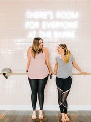 Kirby Dudley and Lacey Garrett launched Garage Barre almost three years ago in Garrett's garage. They moved the fitness studio twice before finding a home on Murfreesboro's Public Square.