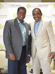 Michael Chatman, president and CEO of the Cape Coral Community Foundation, and Emmett Carson, president and CEO of the Silicon Valley Community Foundation, spoke at the the Philanthropy Experts and Leadership Academy this week in Cape Coral.