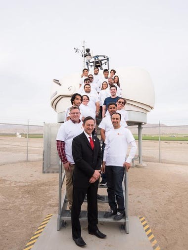 College of the Desert science students with Dr. Joel