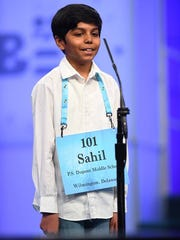 Sahil Langote, of New Castle, made it to the third round of the Scripps National Spelling Bee.