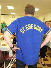 A guest attending the celebration of the St. Gregory