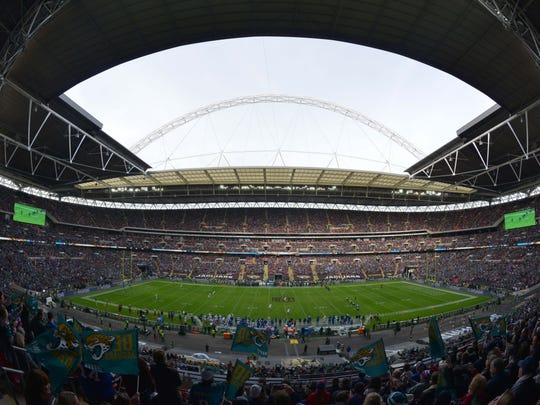 Wembley Stadium just before kickoff of the Bills-Jaguars