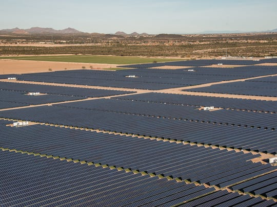 The Sandstone Solar project in Florence broke ground in 2015. It sells power to SRP for 5.3 cents per kilowatt-hour. Utilities contend this is a better way to support solar than by paying retail credits to customers with rooftop solar.