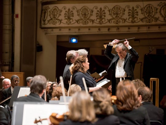 "James Conlon led Dvorak's ""Stabat Mater,"" the first piece he conducted at the May Festival in 1978"