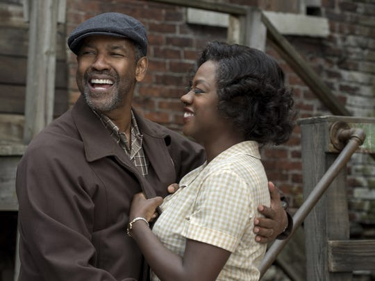 "Mt. Vernon native Denzel Washington and Viola Davis in ""Fences."" Washington was nominated for a Golden Globe Award for his work in the film."