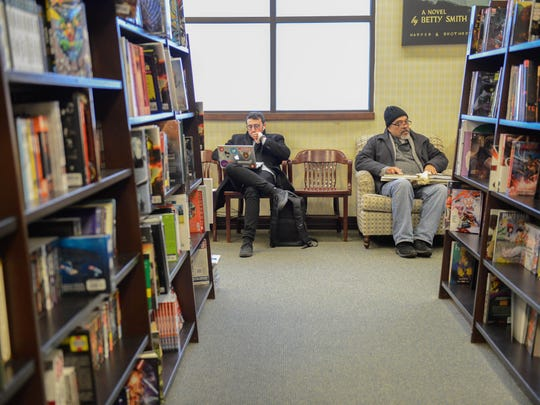'Twas the day after Christmas: Shoppers enjoy some peace and quiet at the Barnes & Noble at The Shops at Riverside in Hackensack.