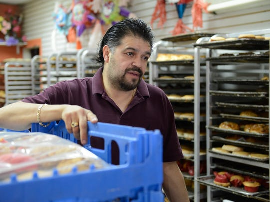 Pedro Sánchez, owner of Ideal Bakery on Market Street in Passaic, says immigrants are willing to do a lot of back-breaking work that Americans don't want to do and that they contribute to the economy of this country.