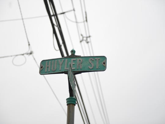 Huyler Street in Hackensack for Name Dropper series
