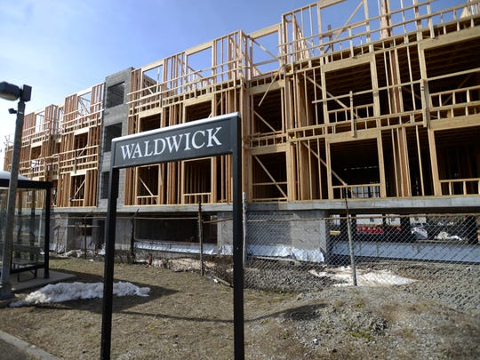 Waldwick Station, an 111-apartment complex, is to be completed by year's end.