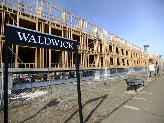 Apartment complex next to the Waldwick Train Station is under construction.