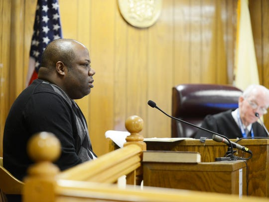 Teaneck resident Elie Jones is questioned by Judge Roy McGeady in Hackensack Superior Court on Feb. 23, 2017. Jones filed numerous criminal complaints against township employees including Teaneck Police Officer Joseph Careccio, Lt. Thomas Tully, Andrew Gold and Issa Abbasi.