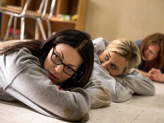 9. 'Orange Is the New Black |  Laura Prepon, left, and Taylor Schilling