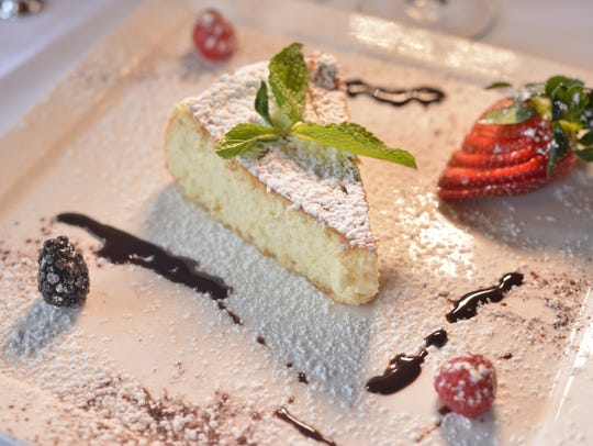 Ricotta cheese cake at restaurant Grissini in Englewood