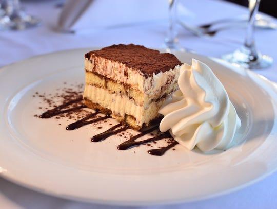 Tiramisu dessert Restaurant Delvina in Closter.