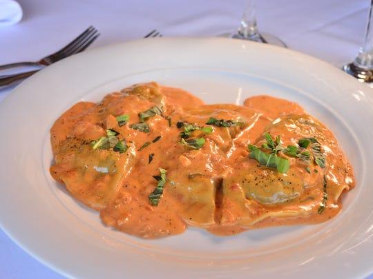 Angelotti Alba dish at Restaurant Delvina in Closter.