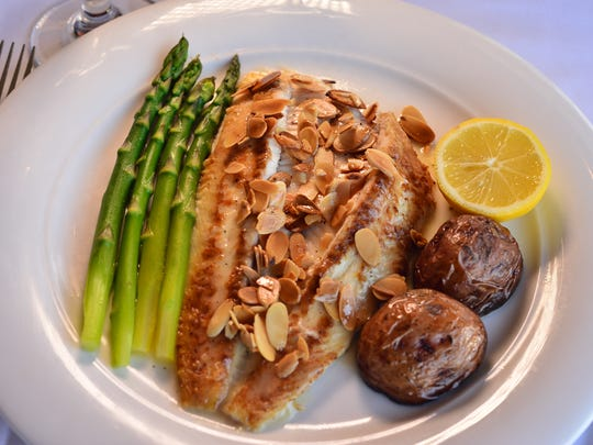 Dover sole meuniere dish at Restaurant Delvina in Closter.