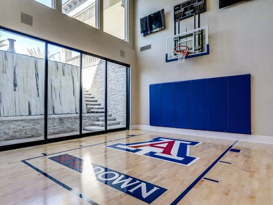 Which Is The Second Priciest Home In Town S History Inside Of Includes A Basketball Court With Arizona Wildcats Flavor