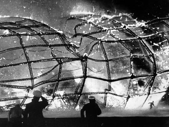The blazing inferno that was the German airship Hindenburg