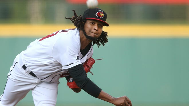 Red Wings Ervin Santana pitched 8 scoreless innings, giving up no runs on 5 hits and striking out 5 in his final tuneup before going to Minnesota.