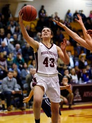 Morristown's Elizabeth Strambi goes up for a layup